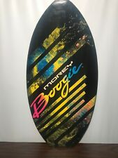Vintage MOREY BOOGIE Wood Skimboard Multicolor Beach Surf Very Good Condition!