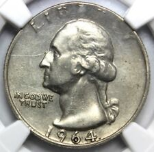 "1964,  ""STRUCK ON A 5C PLANCHET"" MINT ERROR AU DETAILS  NGC OBV. Stratched"