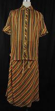 BETTY BARCLAY Sommer - Kostüm, Bluse Gr 36 + Rock Gr 34  gelb rot schwarz braun