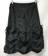 Entrata Size 6 Bustle Skirt Black Gathered Julie