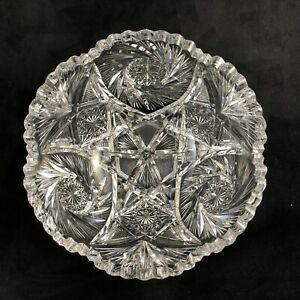 """Antique Blackmer ABP Cut Glass ALMONT Pattern 9""""  Deep Serving Bowl c. 1908"""