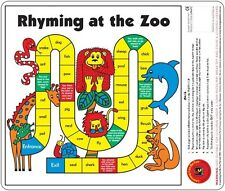 Rhyming at the Zoo Desk Reading Game Words that Rhyme Learn to Read