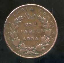 INDE  british colony  one quarter  de anna  1835