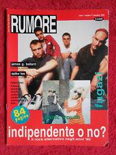 Rivista RUMORE Nr 7/1992 Fugazi Sonic Youth Pavement Fishbone Silverfish No cd