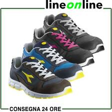 Scarpe antinfortunistiche Diadora RUN LOW S3 in pelle nabuk per uomo e donna