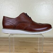 Cole Haan Original Grand Wingtip Oxford Shoes Mens Size 12 M Woodbury / Ivory