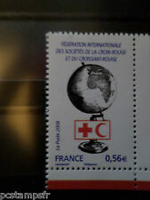 FRANCE 2009, timbre 4390 CROIX ROUGE GLOBE FEDERATION neuf** MNH RED CROSS
