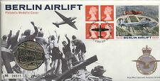 1999 ponte aereo Berlino FDC 50th ANNIVERSARIO MEDAGLIA *** Da collezione ***