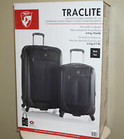 "Heys Traclite 2-PC Set 4-Wheel Lightweigh Hybrid Spinner Luggage 30"" 21"" Upright"
