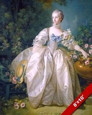 BEAUTIFUL YOUNG FRENCH GIRL WOMAN GIRL IN A DRESS PAINTING ART REAL CANVAS PRINT