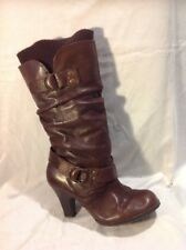 Aldo Brown Mid Calf Leather Boots Size 37