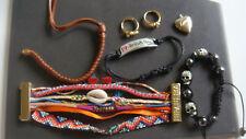 lot 7 bijoux fantaisie dont 1 HIPANEMA 2 bagues 4 bracelets 1 pendentif  coeur