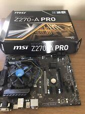MSI Z270-A Pro Turbo Intel DDR4 Motherboard