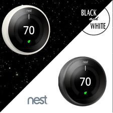 Black & White Bundle: TWO Nest Learning Thermostats 3rd Gen