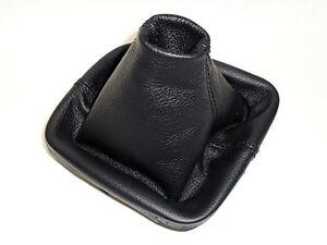 VW PASSAT B7 cuffia leva cambio in vera pelle nera no parte plastica