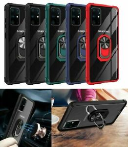 Case For Samsung S21 PLUS ULTRA Hybrid Magnetic Ring Stand Slim Clear Hard Cover