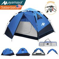 4 Person Outdoor Camping Tent Pop Up Family Instant Automatic Waterproof Cabin