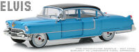 1/24 Greenlight Elvis Presley 1955 Cadillac Fleetwood Series 60 Model Blue 84093