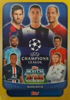 Topps  UEFA Champions League Match Attax 2019 - 20 TEAM SETS of 16 US Edition