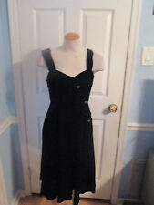 sold out boston proper muse luxe velvet rosette dress 2 black            #12