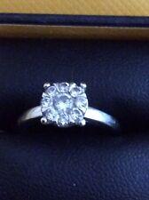 Goldsmiths 9ct White Gold 0.40 carat Diamond Multi Stone Ring