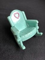 Fisher Price Loving Family Dollhouse Nursery Bedroom Green Rocking Chair