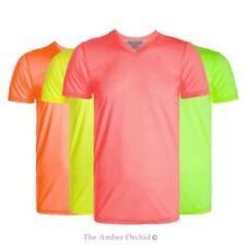 Herren-T-Shirts mit V-Ausschnitt Basic in Größe XL
