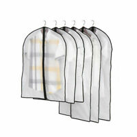Clothes Dust Cover Protector Storage Bag Garment Suit Dress With/Without Zipper