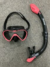 Preowned Seavenger Snorkeling Goggles and Tube set (Pink)