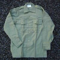 XL British High Quality M37 WOOL L/S Ranch Trail SHIRT Olive 47cm 54-Chest NEW
