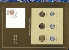 Coin Sets of All Nations Slovenia w/card 1992 -1993 UNC Tolar, 20 Stotinov 1992