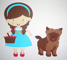 Wizard of Oz Dorothy and Toto Paper Die Cut  Paper Doll Scrapbook Embellishment