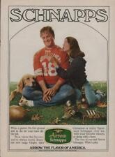 1980 Arrow Schnapps Alcoholic Beverage Advert Vintage Print Ad Page John Goodman