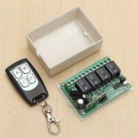 Relay 4ch 433mhz Wireless Rf 4 Keys Remote Control Switch Transmitter +receiver
