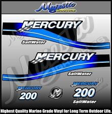 MERCURY - 200 hp - SALTWATER - DECAL SET - OUTBOARD  DECALS