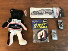 Dale Earnhardt Collectibles Lot of 5 Lighters Air Freshener Decals Nascar Bear