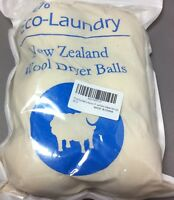 Wool Dryer Balls by Bestoss 6-Pack  XL Premium Reusable Natural Fabric Soft New