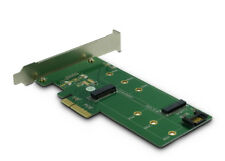 Argus PCIe Karte für eine M.2 PCIe (NVME) und eine M.2 S-ATA Festplatte (NGFF)