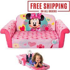 Children's 2 in 1 Flip Open Foam Sofa Minnie Mouse Kids Furniture 18 mont 4 year