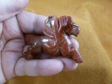 Y-Peg-Ru-727) red Jasper Pegasus flying wings mythical horse Figurine carving
