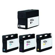 New Premium Ink Cartridges for HP OfficeJet 6700 7110 w/ Chip 932XL 933XL 4-PK