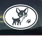 Vinyl Decal Sticker Chihuahua dogs paw car window Graphic food storage container