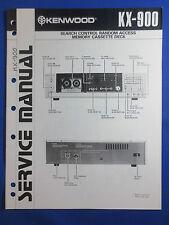 KENWOOD KX-900 CASSETTE SERVICE MANUAL ORIGINAL GOOD CONDITION