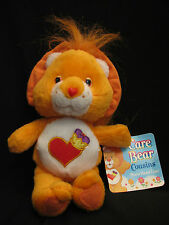 "Brave Heart Lion Care Bear Cousins 8"" Tags Plush Stuffed Animal 2005"