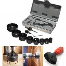 11Pcs Professional 19~64mm Hole Saw Holesaw Metal Alloys Wood Cutting Tool Set