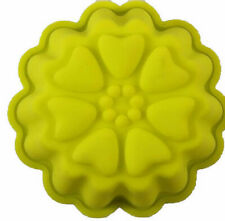 Fluted with Heart Embellishments Cupcake Silicone Mold - NEW