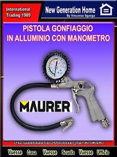 Pistola Gonfiaggio in Alluminio con Manometro Maurer Aria Compressa -