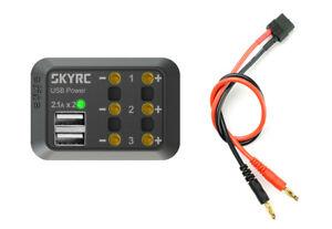 Robitronic SkyRC Verteilerbox mit Bananenstecker USB Ladegerät