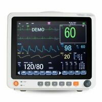 "Portable 12.1"" Touch Screen Patient Monitor Vital Signs ECG NIBP RESP TEMP SPO2"