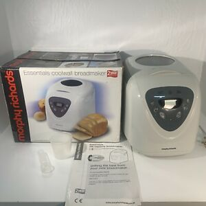 Morphy Richards Breadmaker 48286, White, with Instruction/ Recipes Accessories
